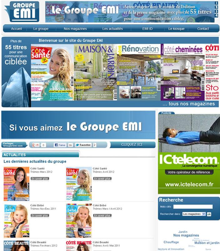 Groupe EMI, presse spécialisée : presse féminine, maison et jardin