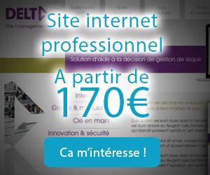 Création de site internet professionnel à partir de 170€