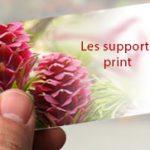 Les supports print, carte de visite, dépliant et plaquette commerciale