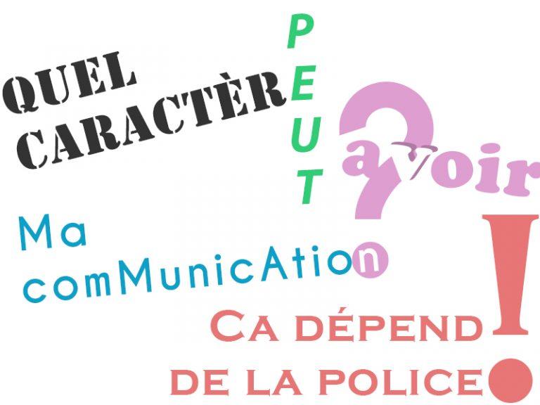 La Police De Caractere Il Est Tres Important Daccorder Du Temps A Son Choix